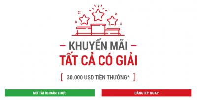 """HOT: Khuyến Mại """"TẤT CẢ CÓ GIẢI"""" Từ XM Dành Riêng Cho Khách Hàng Việt Nam, Tổng Giải Thưởng Lên Tới $30.000"""